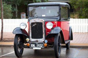 Historic Austin car on display