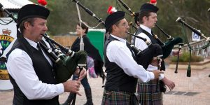 Kalamunda Pipe Band squeezes out a tune