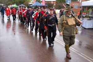 Rifle Regiment parade through Toodyay Main Street