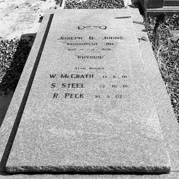 Moondyne Joe's gravestone