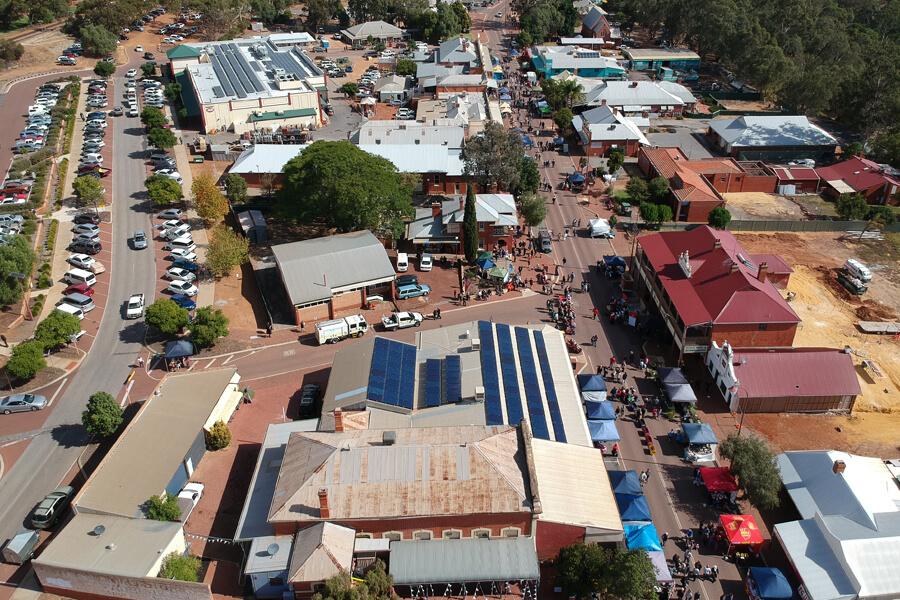 Toodyay aerial view