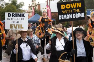 Down With Drink parade through the streets of Toodyay