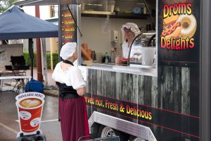 Food vans and period costume